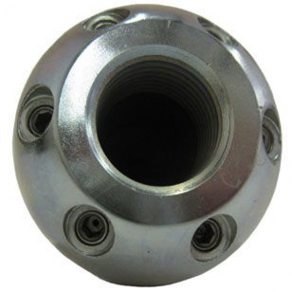 Bullet sewer jetter nozzle rear view