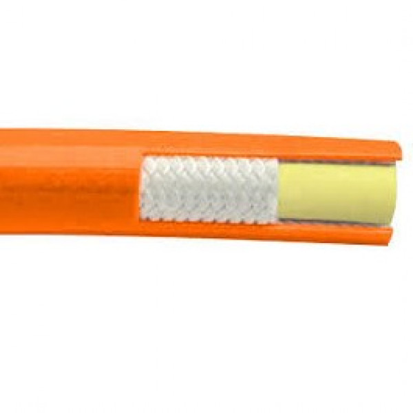 "Piranha Orange 1"" Jetter Hose cut-a-way"