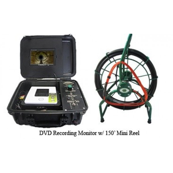 DVD recording inspection system w/ 150' reel