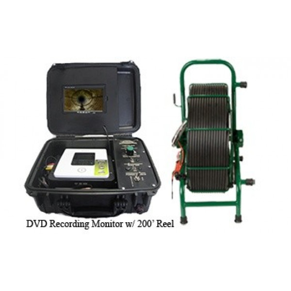 DVD recording inspection system w/ 200' reel