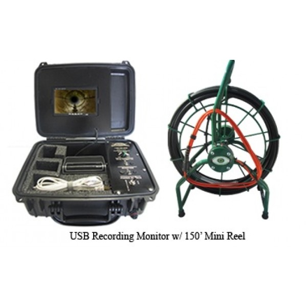 USB Recording Video System w/ 150' Camera Reel