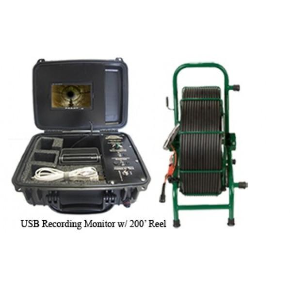 USB Recording Video System w/ 200' Camera Reel
